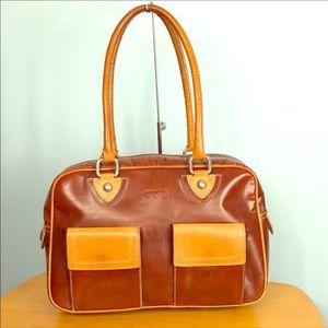 Lottusse 🦋 Stunning 2 Tone Leather Shoulder Bag